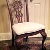 Pierced slat back dining chair