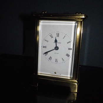 Duvedrey & Bloquel seven jewel French made Carriage clock, manual wind working brass and clock.