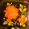 Laquer Box with Floral Painting on it