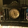 Marble and slate clock