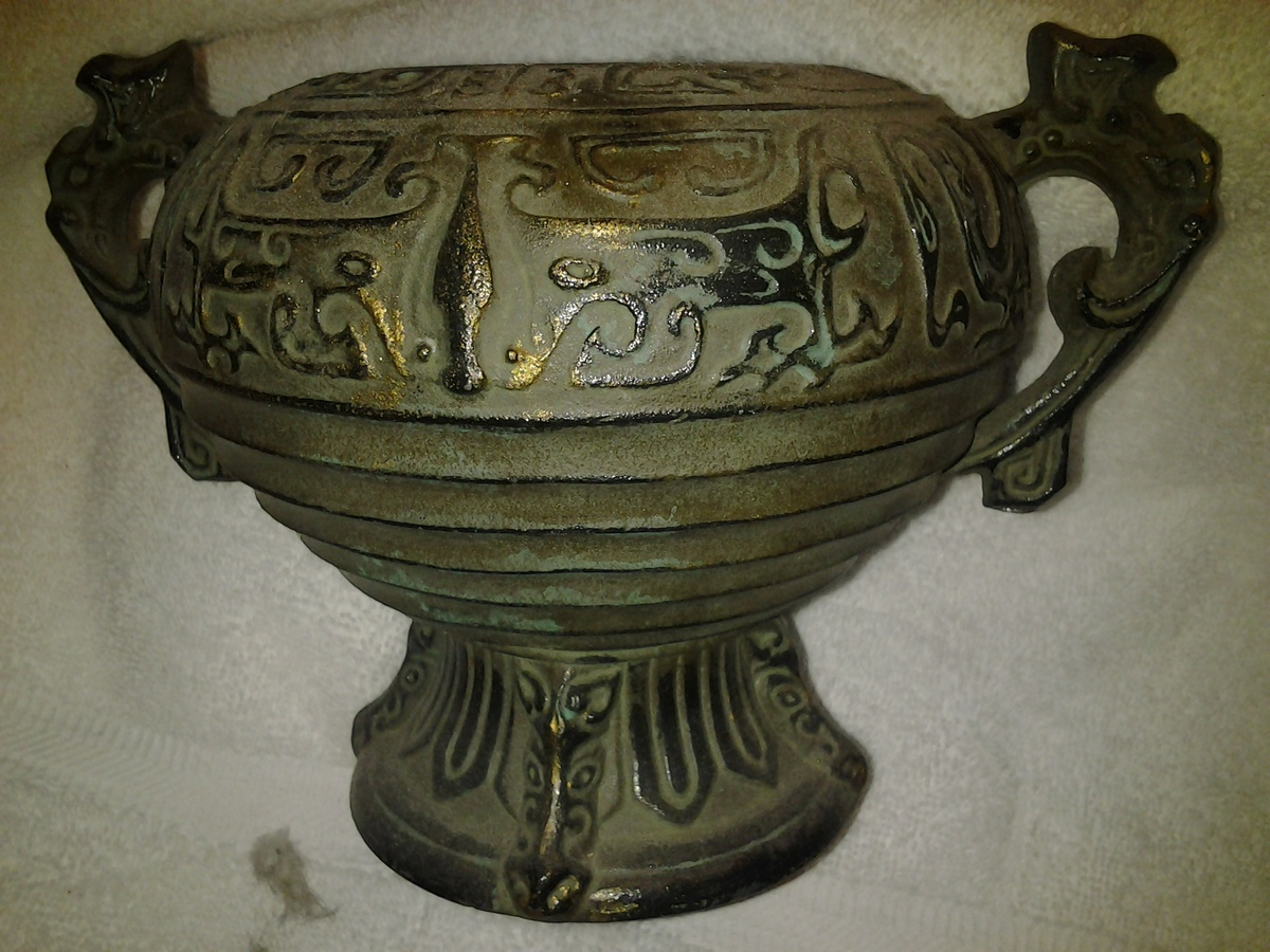 Consider, asian style metal urns consider, that