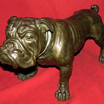 Bronze English Bulldog Sculpture - Animals