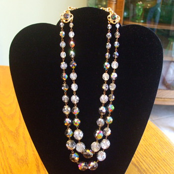 Double-Strand TON PASCAL Designed AURORA BOREALIS Necklace - Costume Jewelry