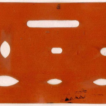 1930's - Celluloid Eraser Shield - Drafting