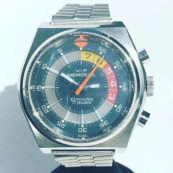 Vintage VIP MEMOSAIL Wrist Watch 17j
