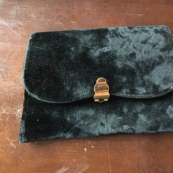 Vintage Black Velvet Clutch - Bags