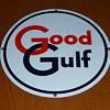 Good Gulf Gasoline Pump Sign
