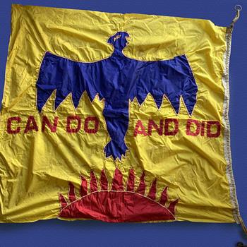 1960's San Francisco CAN DO AND DID Hand Sewn THUNDERBIRD Protest Flag  - Politics