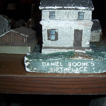 W.P.A. PLASTER CHALK BUILDINGS-FOLK ART - Folk Art