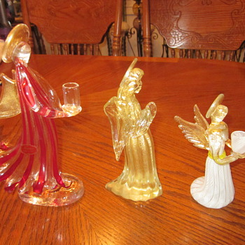 Murano Glass Angels.....garage sale find - Art Glass