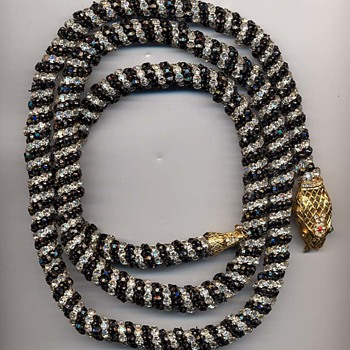 KJL Snake Necklace/Belt - Costume Jewelry