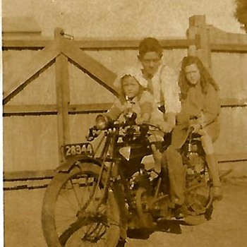 old motorcycles from family album