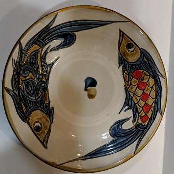 Modern Okinawan Pottery Bowl Signed - Asian