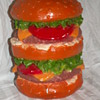 1970's HUGE Hamburger Plaster Bank ~ Mexico