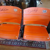 Giants World Champs!! Chairs from Candlestick Park signed by Krukow & Kuiper, Announcers!!