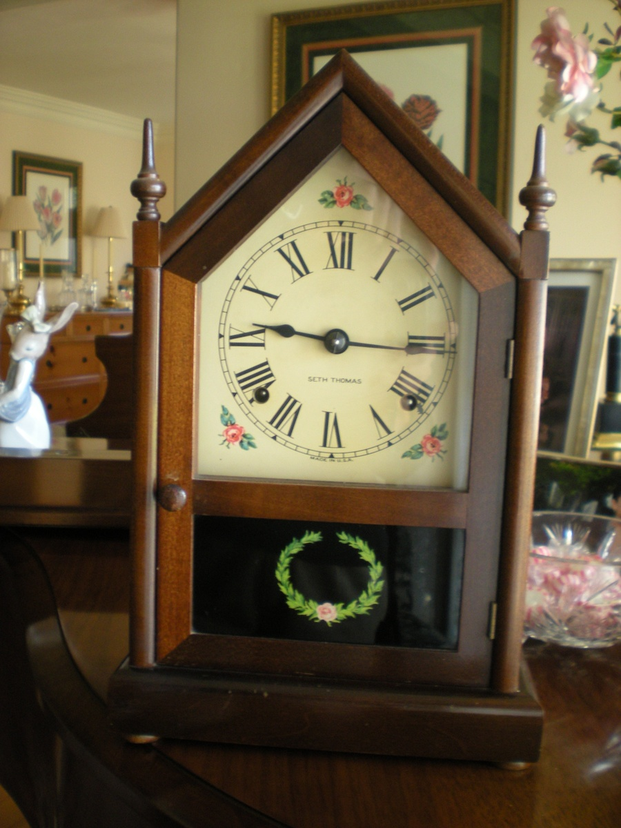 Help identifying model and dating this Seth Thomas adamantine mantel clock