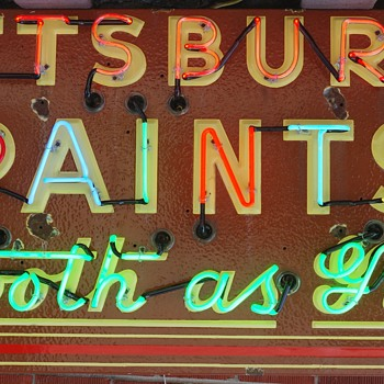 PITTSBURGH PAINTS porcelain/neon sign resto FINALLY done! - Advertising