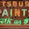 PITTSBURGH PAINTS porcelain/neon sign resto FINALLY done!