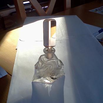 Czechoslovakian cut glass perfume bottle - Bottles