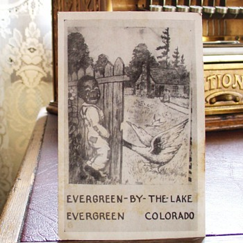 Black Americana Postcard...Evergreen-By-The-Lake...Early 1900's