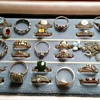 Collection of 9ct gold rings