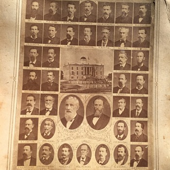 Vintage Composite Photo of 1881 TEXAS Senate 17th Legislator - Military and Wartime
