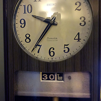 1960 Seiko Sonola ATO Type Electro Magnetic Wall Clock - Clocks