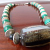 Malachite and Sterling Silver Choker Necklace