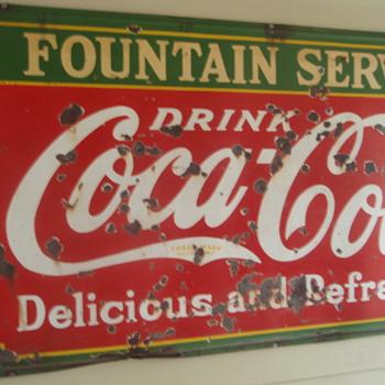 Coca Cola Fountain Service Sign - Coca-Cola