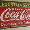 Coca Cola Fountain Service Sign