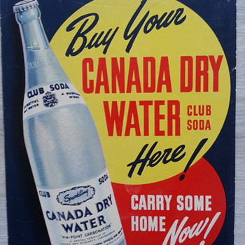 Buy your canada dry water. - Advertising