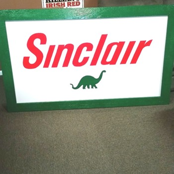 Handmade Sinclair Dino Sign - Petroliana