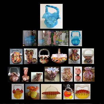 A Basket - A Linington Ad - The Harrach case - And FRANZ WELZ   - Art Glass
