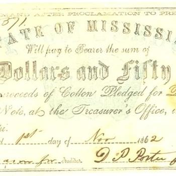 Confederate Money $3 bill and $2.50 bill