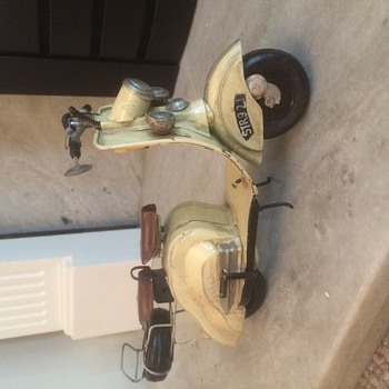 Vespa 2 seater motorcycle