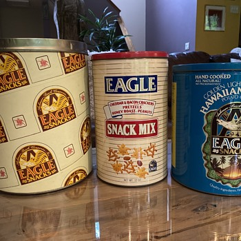 Eagle snacks cans - Breweriana