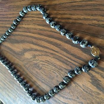 Painted beads - Costume Jewelry