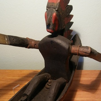 Antique Native American Made Whirleygig. - Folk Art