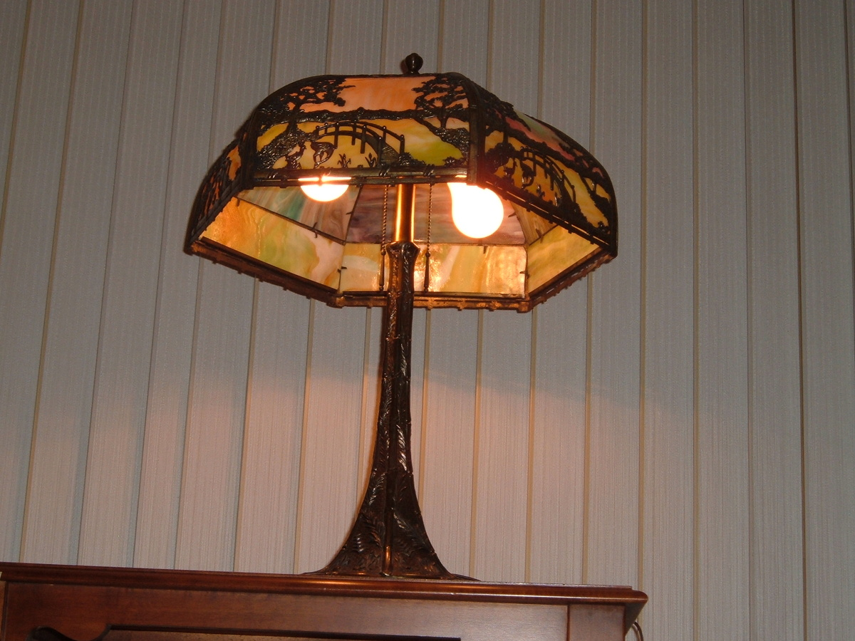 Slag Glass Table Lamp Collectors Weekly