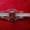Bargain Basement Finds! Silver Edwardian Bar Brooch & 9ct Gold Chain