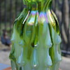 Kurata Glass green and white vase