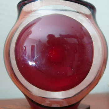 Lauscha art glass vase -- Hubert Koch - Art Glass