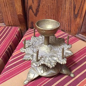Rotating brass plate mystery item