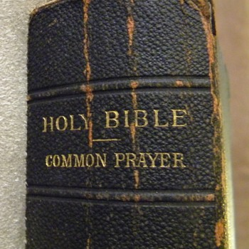My Third Great Grand Uncle's Holy Bible/Book of Common Prayer - Books