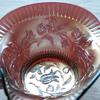 "Amethyst Dugan ""WindFlower"" Pattern Nappy Dish - Carnival Glass - Iridescent Glass"
