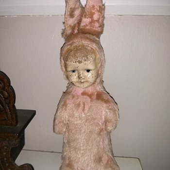 porcelain faced bunny doll? - Dolls
