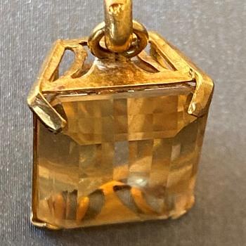 14K Gold Citrine Pendant with funny hallmarks any idea? - Fine Jewelry