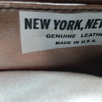 Handbag has a tag New York,New York Genuine Leather made in U.S.A. - Accessories