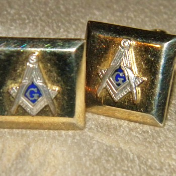 Freemason Cufflinks ca.1920's - Medals Pins and Badges