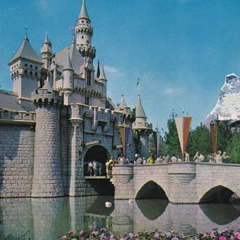 More Exciting Disneyland Postcards Sleeping Beauty's Castle and the Matterhorn  - Advertising